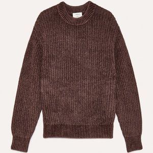 Wilfred chenille sweater in auberge